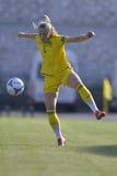 Giocatore di football americano femminile svedese - Magdalena Ericsson Fotografia Stock