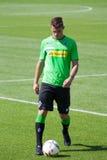 Giocatore di football americano Granit Xhaka in vestito di Borussia Monchengladbach Fotografia Stock