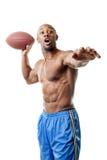 Giocatore di football americano muscolare Immagini Stock