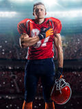 Giocatore di football americano nell'azione Fotografie Stock Libere da Diritti