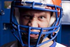 Giocatore di football americano pazzo Immagine Stock