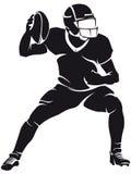 Giocatore di football americano, siluetta royalty illustrazione gratis