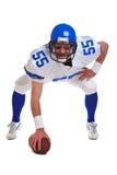 Giocatore di football americano tagliato fotografia stock