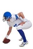 Giocatore di football americano tagliato fotografie stock libere da diritti