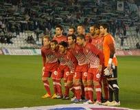 Giocatore di Girona F.C. in aligment iniziale Fotografie Stock