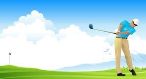 Giocatore di golf royalty illustrazione gratis