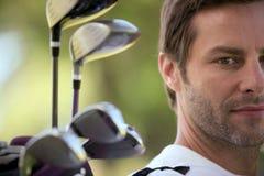 Giocatore di golf Fotografie Stock Libere da Diritti