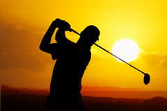 Giocatore di golf Immagini Stock Libere da Diritti