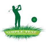 Giocatore di golf Fotografia Stock
