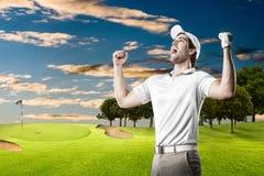 Giocatore di golf fotografia stock libera da diritti