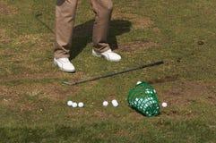 Giocatore di golf all'intervallo Fotografia Stock Libera da Diritti