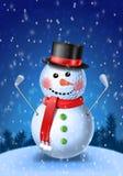 Giocatore di golf del pupazzo di neve con i ferri royalty illustrazione gratis