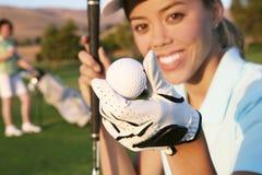 Giocatore di golf della donna Fotografie Stock Libere da Diritti