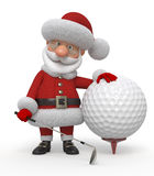 giocatore di golf di 3d Santa Claus Fotografia Stock