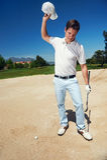 Giocatore di golf frustrato immagine stock libera da diritti