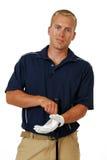Giocatore di golf maschio fotografia stock