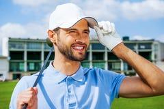 Giocatore di golf sicuro Immagini Stock