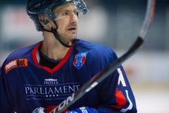 Giocatore di hockey non identificato Immagine Stock