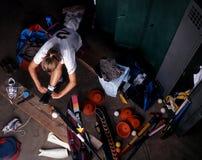 Giocatore di hokey Fotografia Stock