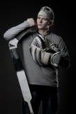 Giocatore di hokey del ghiaccio Immagine Stock Libera da Diritti