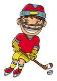 Giocatore di hokey del ghiaccio Fotografie Stock
