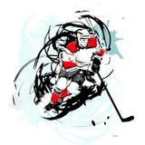 Giocatore di hokey del ghiaccio Fotografia Stock