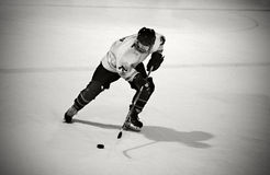 Giocatore di hokey del ghiaccio fotografia stock libera da diritti