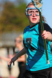 Giocatore di Lacrosse delle donne Fotografia Stock