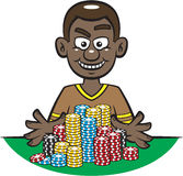 Giocatore di mazza tutto dentro illustrazione di stock