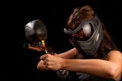 Giocatore di Paintball fotografia stock libera da diritti