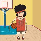 Giocatore di pallacanestro Fotografie Stock