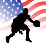 Giocatore di pallacanestro americano Fotografia Stock Libera da Diritti