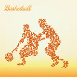 Giocatore di pallacanestro astratto illustrazione di stock