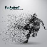 Giocatore di pallacanestro dalle particelle illustrazione vettoriale