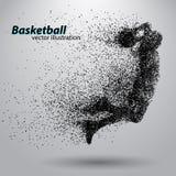 Giocatore di pallacanestro dalle particelle illustrazione di stock