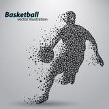 Giocatore di pallacanestro dei triangoli royalty illustrazione gratis