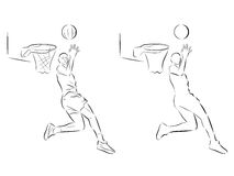 Giocatore di pallacanestro di schizzo Fotografia Stock Libera da Diritti