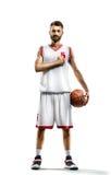 Giocatore di pallacanestro nell'azione Fotografie Stock Libere da Diritti