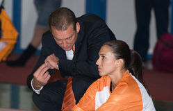 Giocatore di pallacanestro Svetlana Abrosimova immagine stock libera da diritti