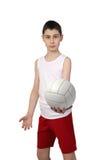 Giocatore di pallavolo del ragazzo Immagini Stock