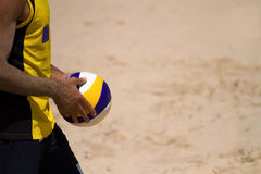 Giocatore di pallavolo della spiaggia Immagini Stock