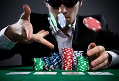 Giocatore di poker Fotografia Stock Libera da Diritti