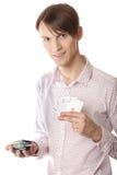 Giocatore di poker Fotografie Stock Libere da Diritti