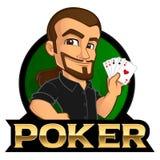 Giocatore di poker illustrazione vettoriale