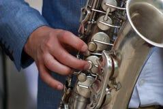 Giocatore di sassofono Fotografia Stock
