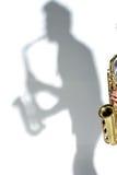 Giocatore di sassofono Immagine Stock Libera da Diritti