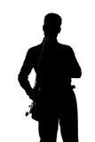 Giocatore di sassofono Fotografie Stock