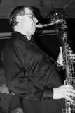 Giocatore di sax Fotografia Stock