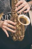 Giocatore di sax brasiliano Fotografia Stock