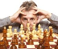 Giocatore di scacchi Immagine Stock Libera da Diritti